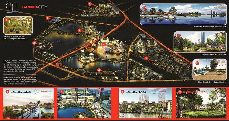 Quy mô khu đô thị Gamuda City