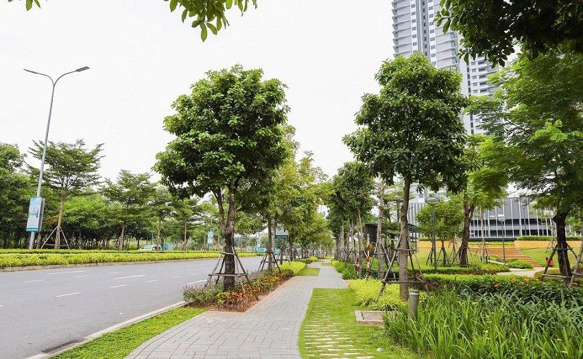 Quy hoạch chuẩn mực, có làn đường riêng cho cư dân đi dạo bộ