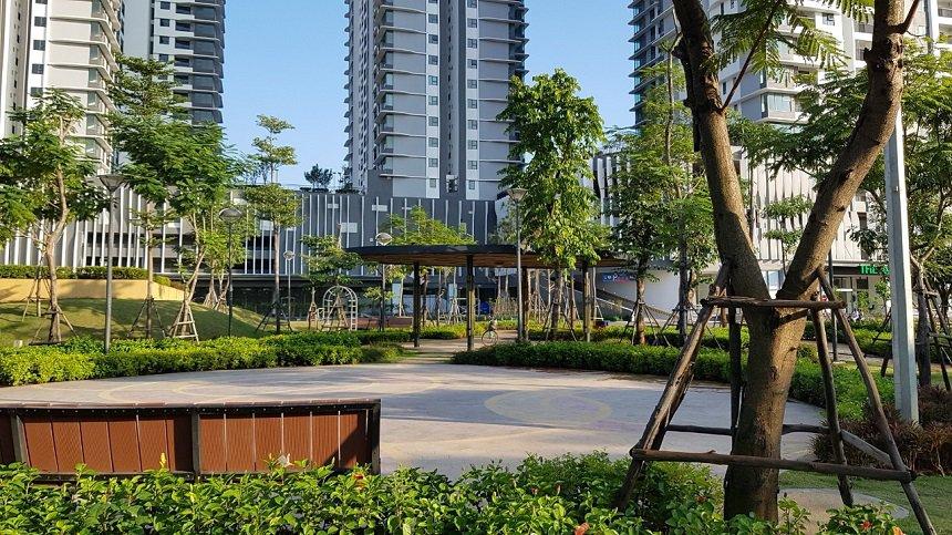 Công viên ngay dưới chân tòa chung cư The Zen - Gamuda Gardens