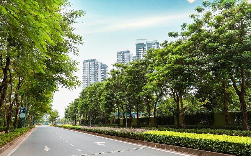 Các mảng xanh ngập tràn trong khu đô thị Gamuda Gardens