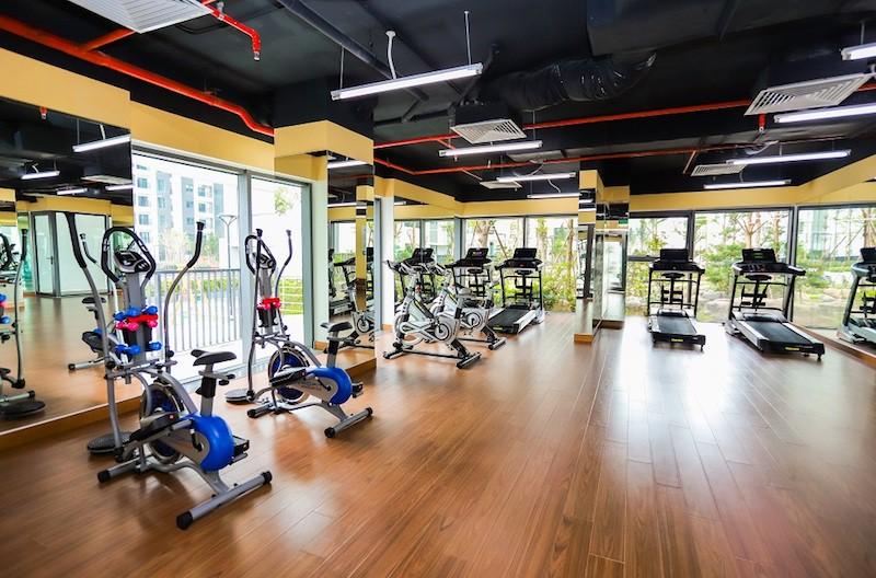 Phòng tập Gym The Zen rộng 200m2 với nhiều máy tập hiện đại
