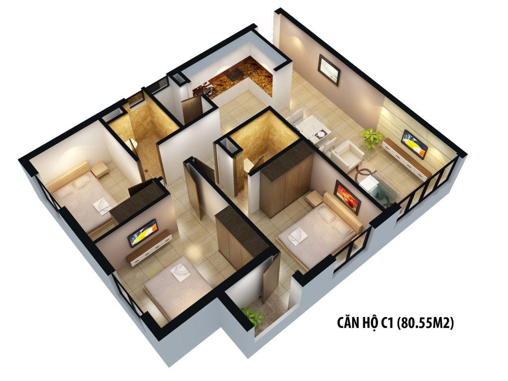 Bán căn hộ chung cư gamuda the one 3 pn