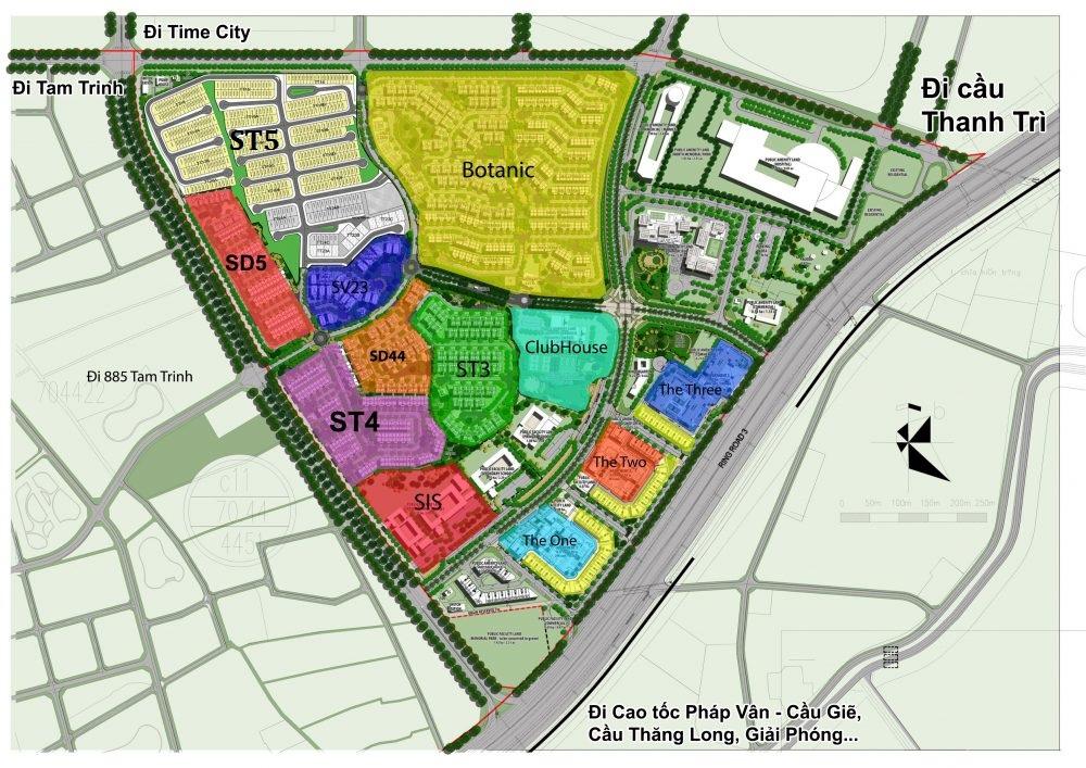Mặt bằng tổng thể khu đô thị Gamuda Gardens