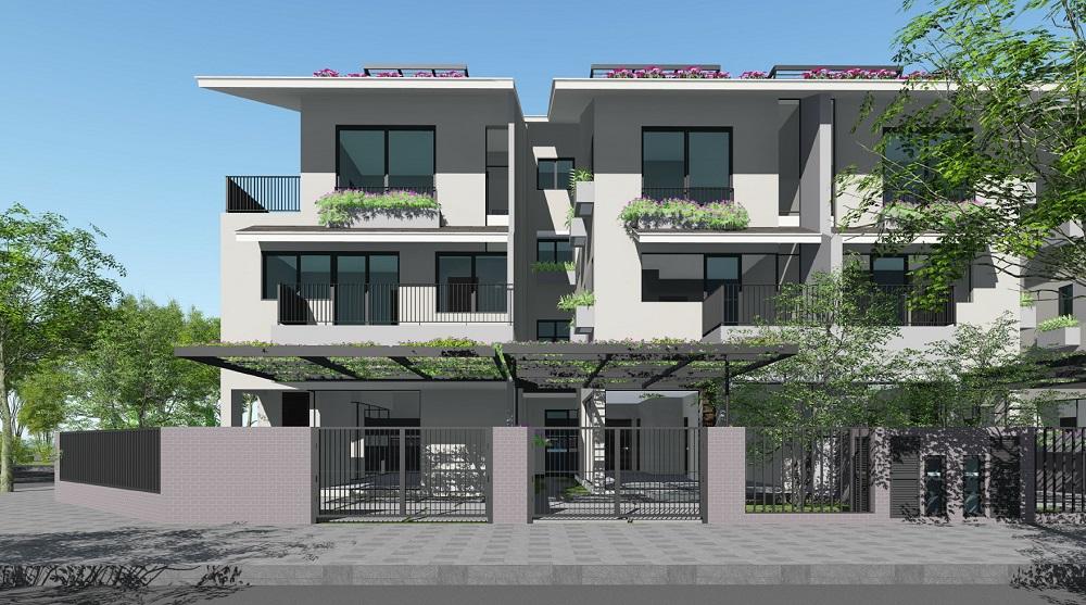 Mô hình biệt thự song lập Iris Homes SD5 Gamuda Gardens
