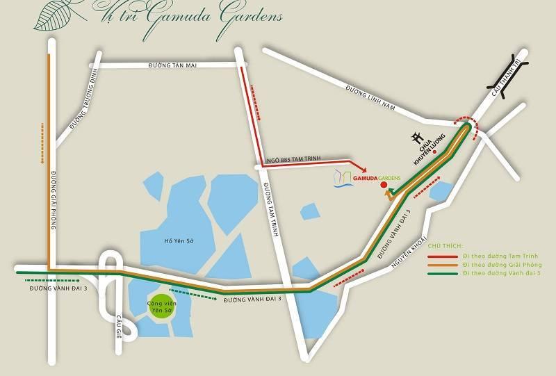 Vị trí Gamuda City