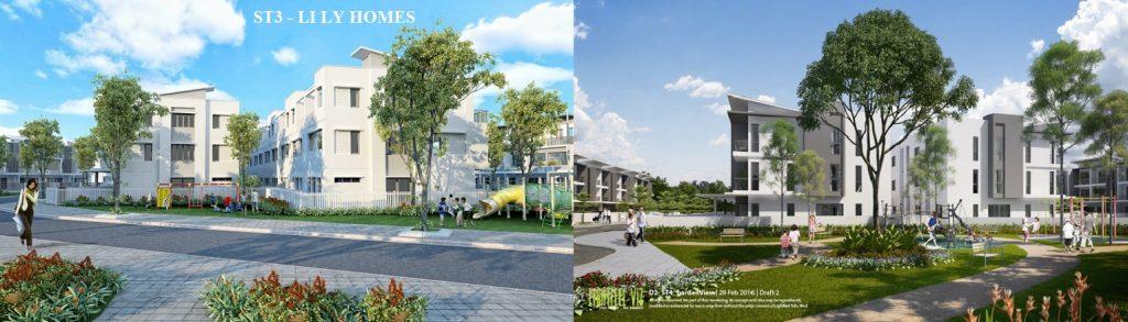 So sánh nhà liền kề Gamuda ST3 và ST4