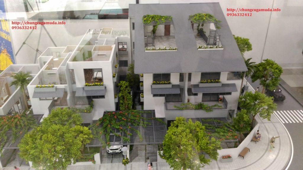 Biệt thự song lập Gamuda SD5 Iris Homes - Mặt cắt
