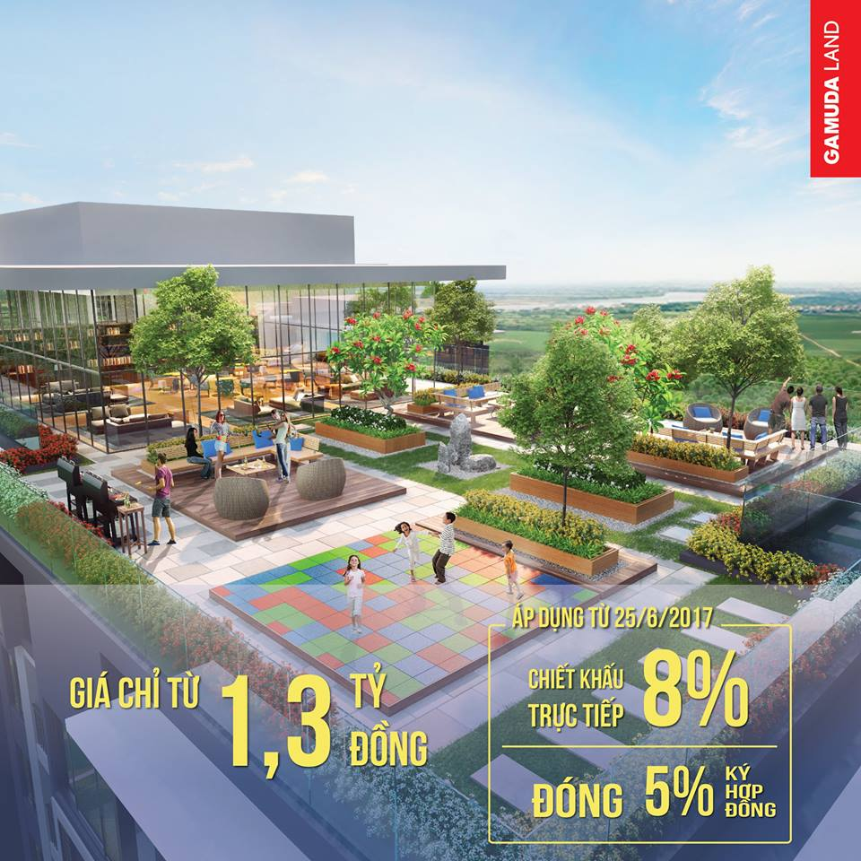 Không gian xanh gắn với thiên nhiên là thiết kế chủ đạo của dự án.