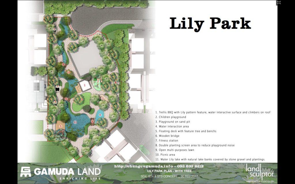 Phối cảnh nhà vườn liền kề Gamuda giai đoạn 2 - Lily Homes ST3 - Công viên Lily