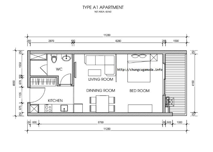 mặt bằng chi tiết căn hộ – KHU ĐÔ THỊ GAMUDA CITY