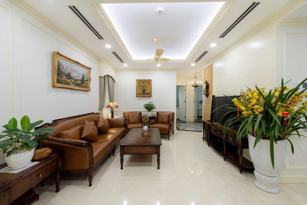 Ảnh chụp nội thất căn hộ 3PN tòa The Zen - Phòng khách